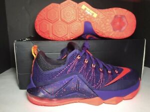 quality design afc7b 0549f Image is loading NIKE-LEBRON-12-XII-LOW-Size-11-COURT-