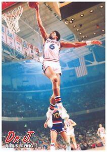 728b1c7aa2f NBA PHILADELPHIA 76ERS DR J JULIUS ERVING POSTER NEW 24x34 FREE ...