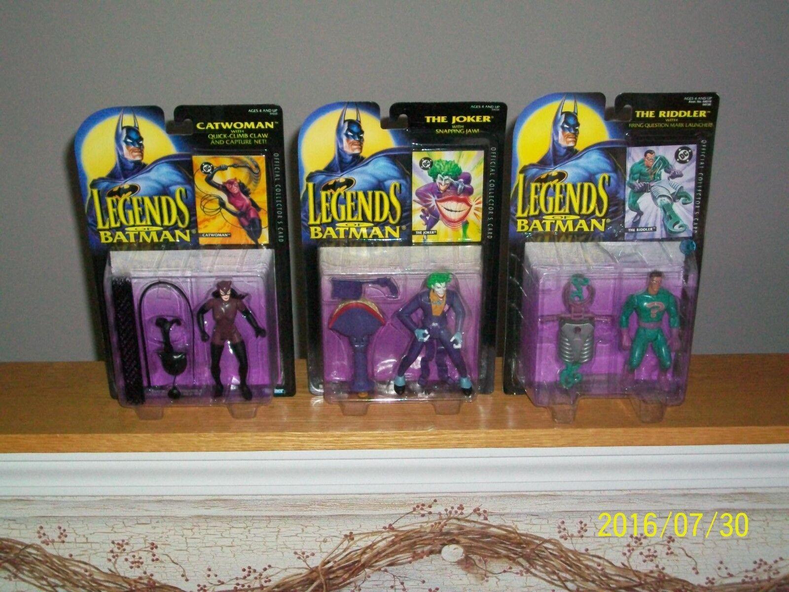Kenner Legends of Batman Catwoman, Joker, and Riddler