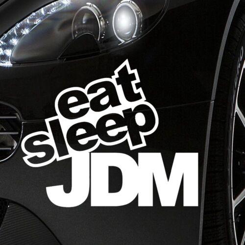 Auto pegatinas aprox 13,5x10cm en blanco-Eat Sleep JDM funny humor