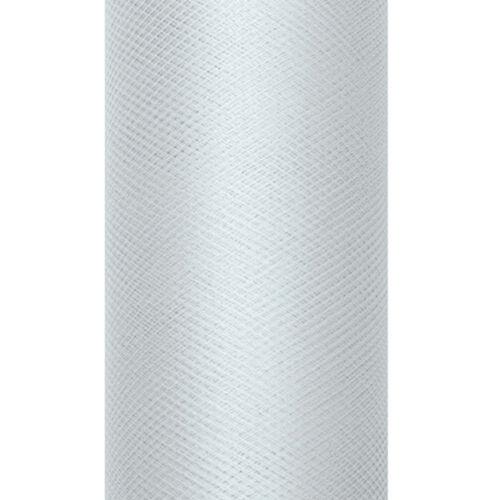 "Dekoband /""tulle/"" 8 cm x 20 M Gris Cadeau bandes Fixation Gastgeschenke"