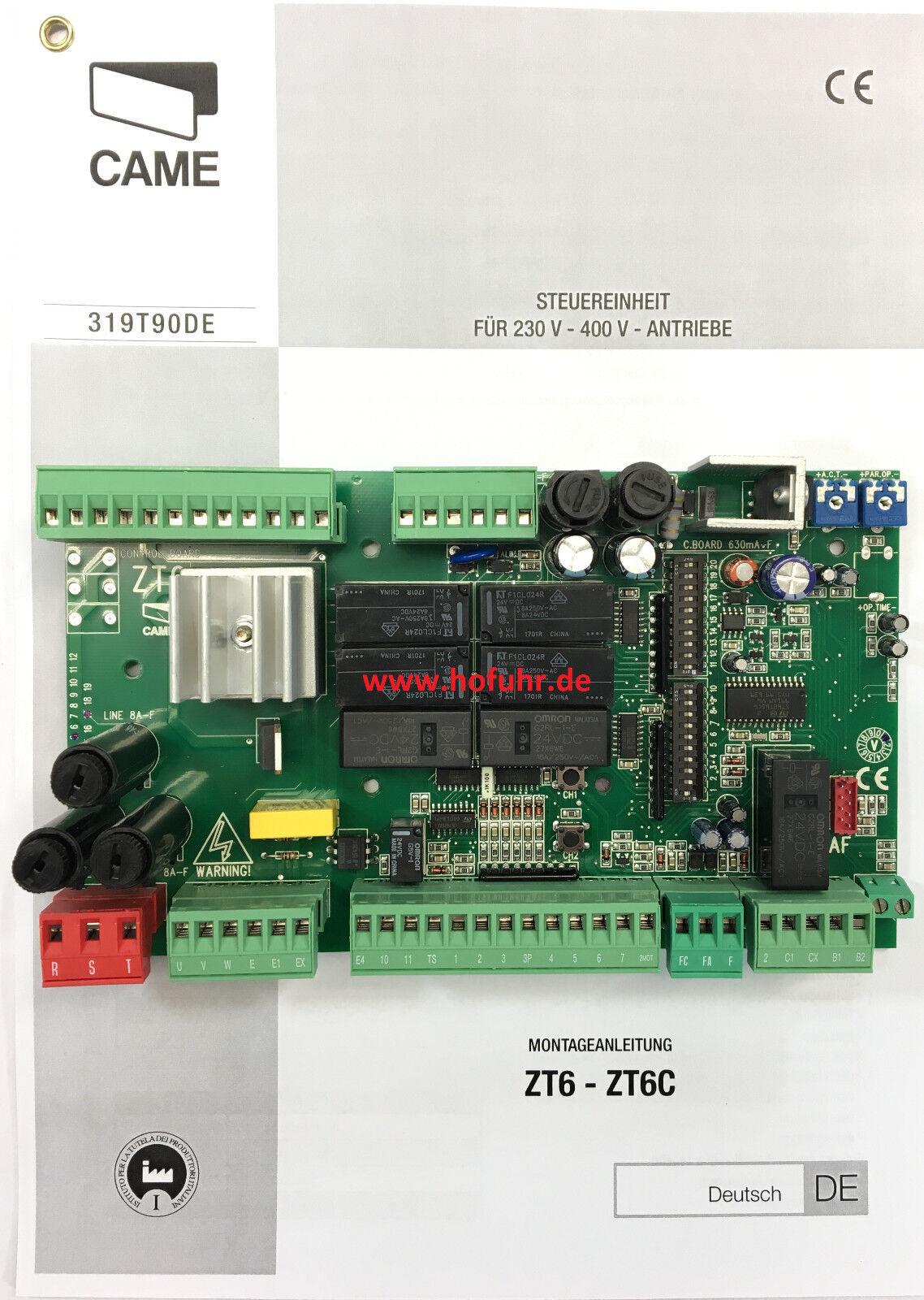 CAME Platine Steuerung ZT6, für 400 Volt Antriebe z.B. BY3500T und C-BX
