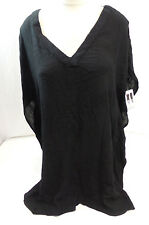 O'Neill Womens Short Sleeve Swim Cover Black US Size L NWT