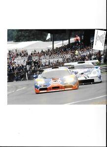 GULF-RACING-McLAREN-F1-GTR-PORSCHE-GT1-GTR-BPR-PHOTOGRAPH-BRANDS-HATCH-1996