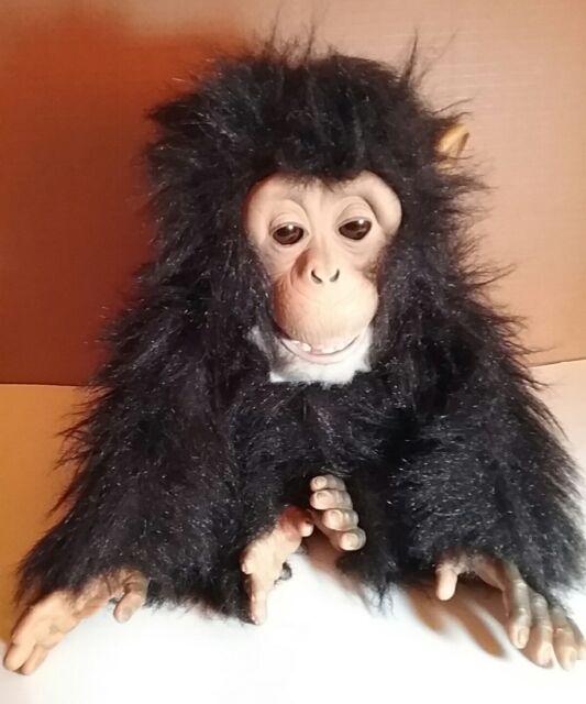 "FurReal Friends Cuddle Chimp Plush Monkey Animated Toy 14""  2005 Hasbro Tiger"