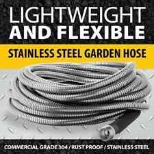 Bionic Steel Metal Garden Hose - Heavy Duty 304 Stainless Steel Lifetime Hose
