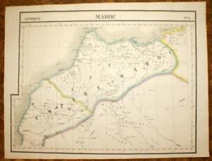Cartina Geografica Marocco.L Impero Del Marocco Africa Carta Geografiche Antica Vandermaelen
