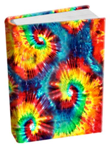 Tye Tie Dye Retro Stretch Fabric Book Sox Cover Jumbo Print Yellow Red Green NIP