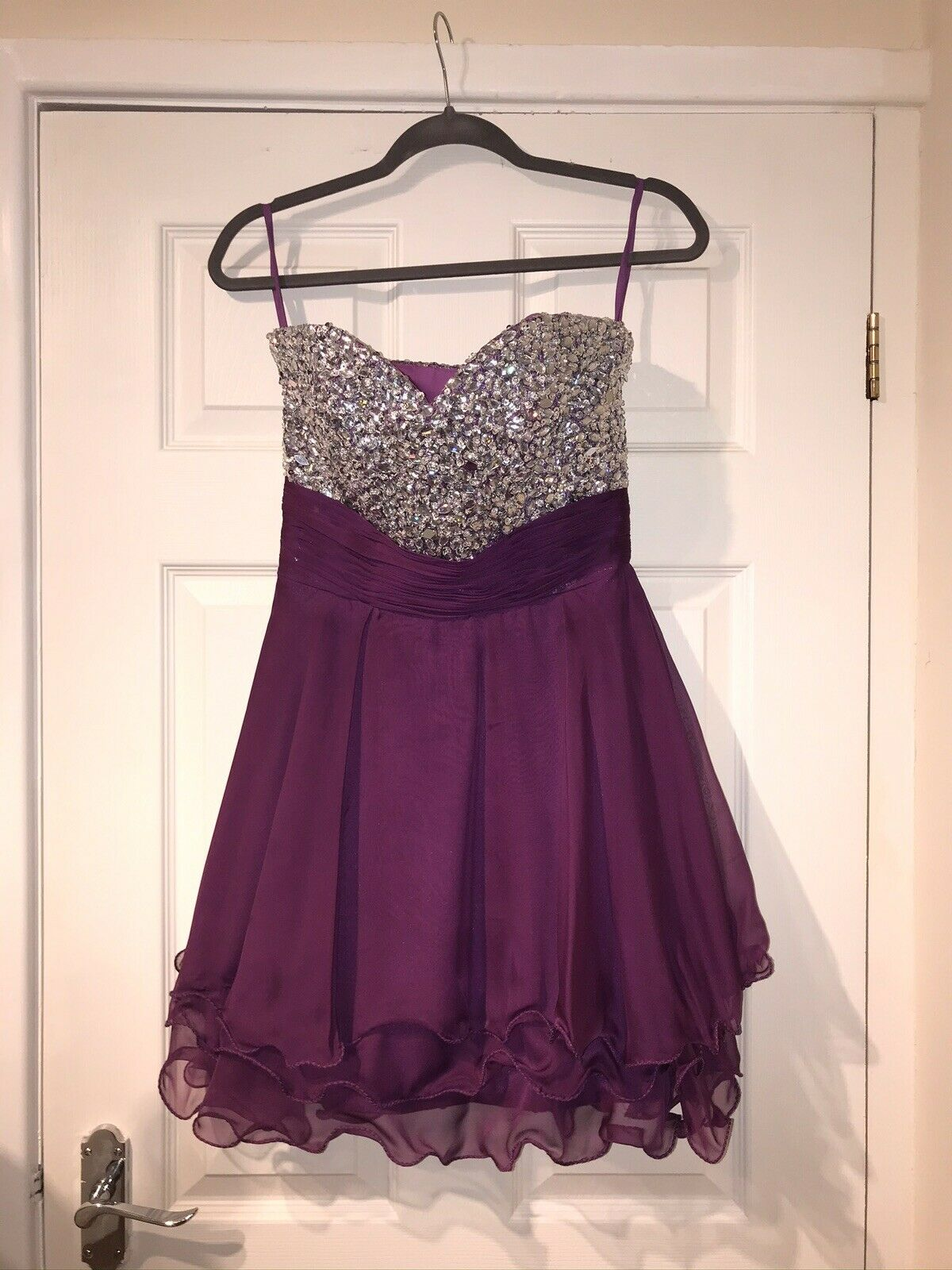 Sequinned Ball Prom Cocktail Dress UK8