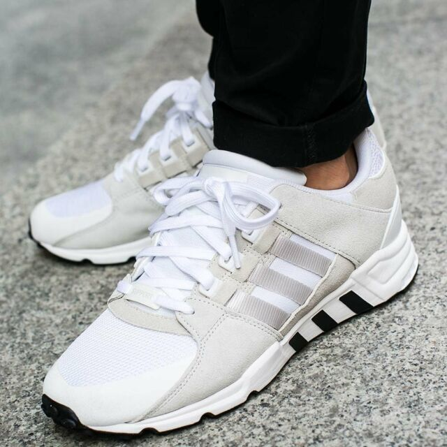 Adidas Eqt Support RF PK Lace Up White Silver Mens Textile Trainers BA7507 D49