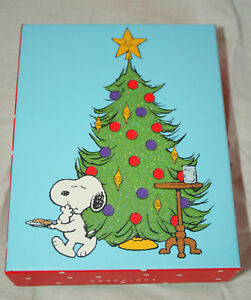 Snoopy Christmas Cards.Details About Graphique Peanuts Snoopy Eats Santas Cookies Christmas Cards New Mib Box Of 20
