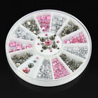 3D Hot Nail Art Rhinestones Glitters Acrylic Manicure Wheel Tips Decoration