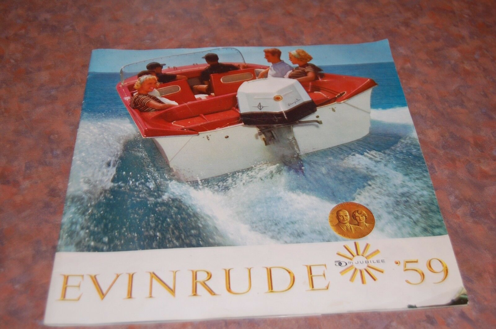 1959 Evinrude  Outboard Motors Catalog 50th Jubilee  official authorization