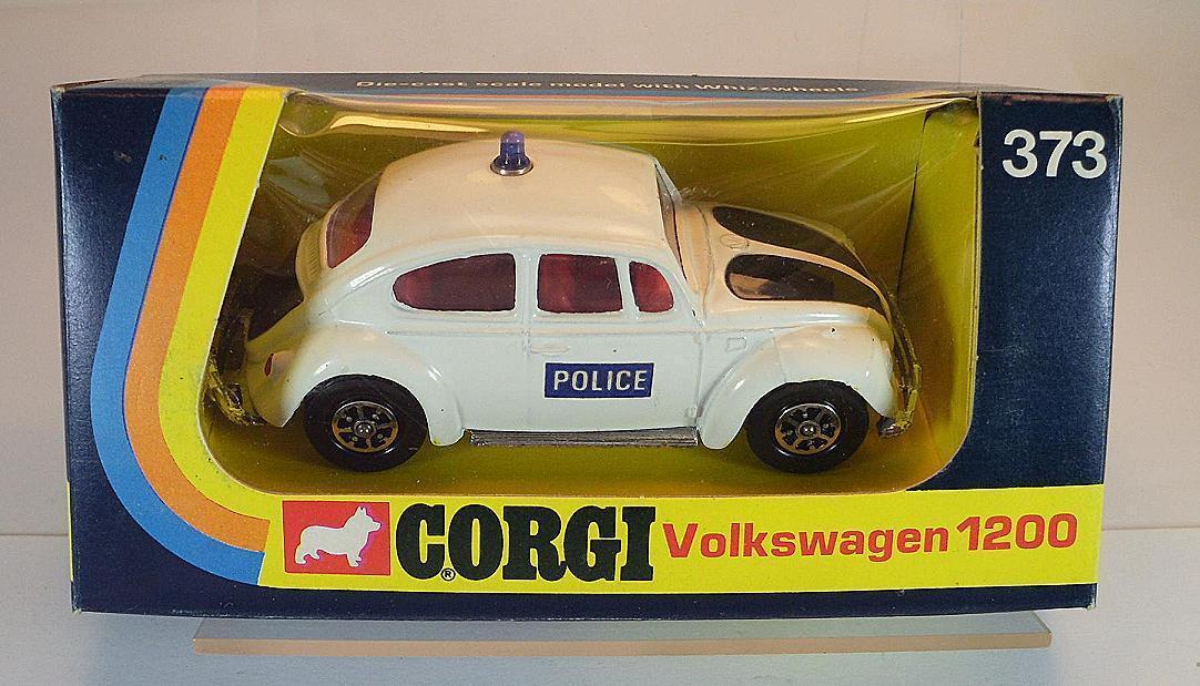 Corgi Juguetes 373 Volkswagen EsCocheabajo VW 1200 Saloon Police en o-box  6014