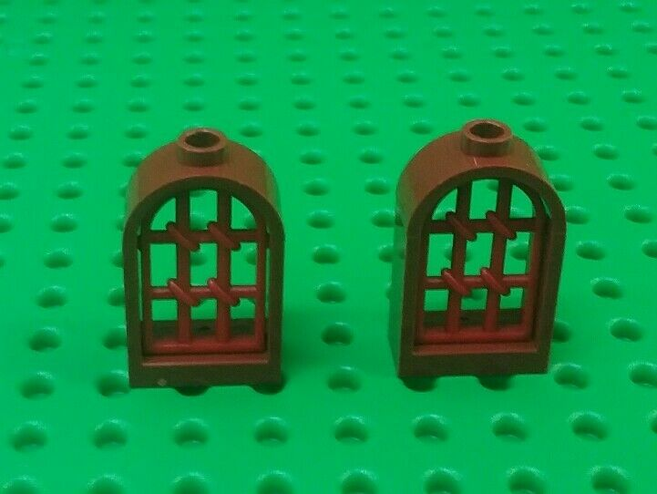 1722 # Lego ARCH 1x2x2 Red 2 Piece