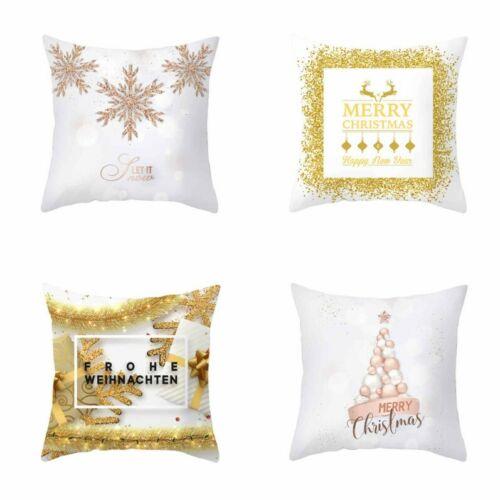 Polyester Cushion Cover Sofa bedroom Christmas Decor Waist Gold Series Home