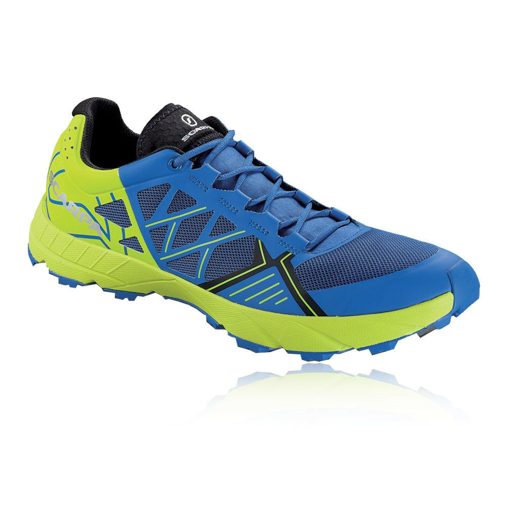Scarpa Mens Spin Alpine Running Shoes Trainers Sneakers Blue Green Sports