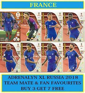 Panini-Adrenalyn-XL-FIFA-World-Cup-2018-Rusia-elija-su-equipo-de-Francia-Tarjetas