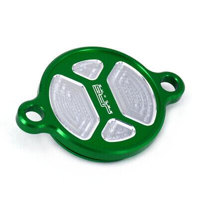 CNC Billet Motorcycle Oil Filter Cover Caps For Kawasaki KXF250 KX250F 2005-2016