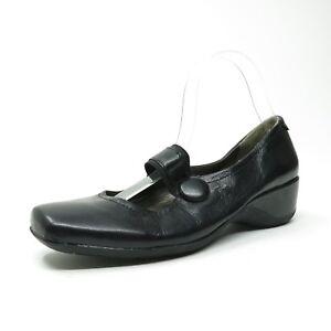 Naturalizer-Black-Leather-Pumps-Mary-Jane-N5-Comfort-GABLE-Shoe-SZ-9-M