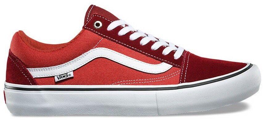 Vans Old Skool Pro (Two-Tone) Madder Braun/Cinnabar Gr. 40 - Schuhe 45 Skate Schuhe - e0c78a