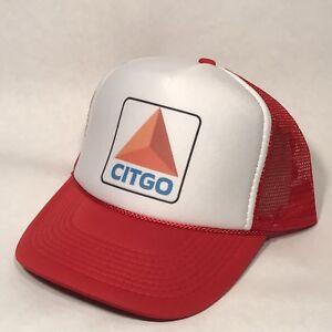 Vintage Style Citgo Truck Stop Store Gas Oil Trucker Hat Snapback ... 9ccbf51e0f18