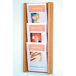 Wooden Mallet Stance 3 Pocket Wall Display 3H AC26-3LO Wall Display NEW