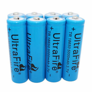 8X-Batteries-18650-5000mAh-3-7V-Li-ion-Rechargeable-Battery-for-Flashlight-Torch