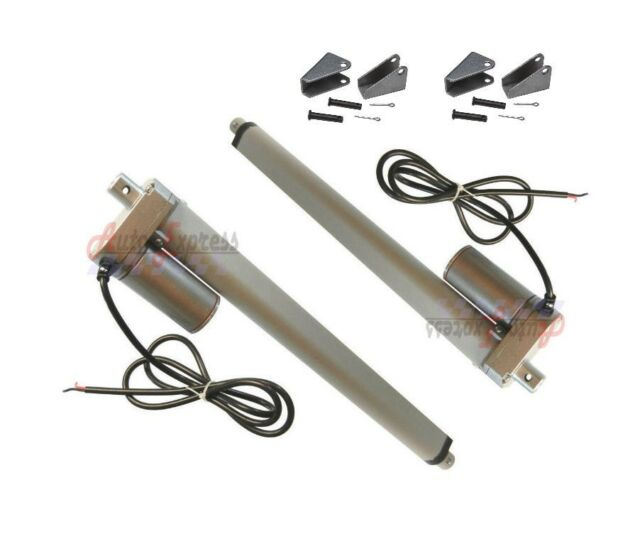"Set of 2 22/"" Linear Actuator Heavy Duty Stroke 12 Volt DC 200 Pound Max Lift"
