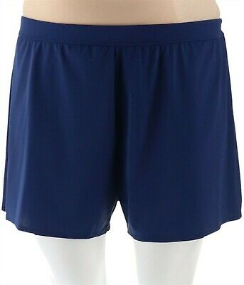 Denim /& Co Beach Swim Shorts Berry 20W NEW A303956