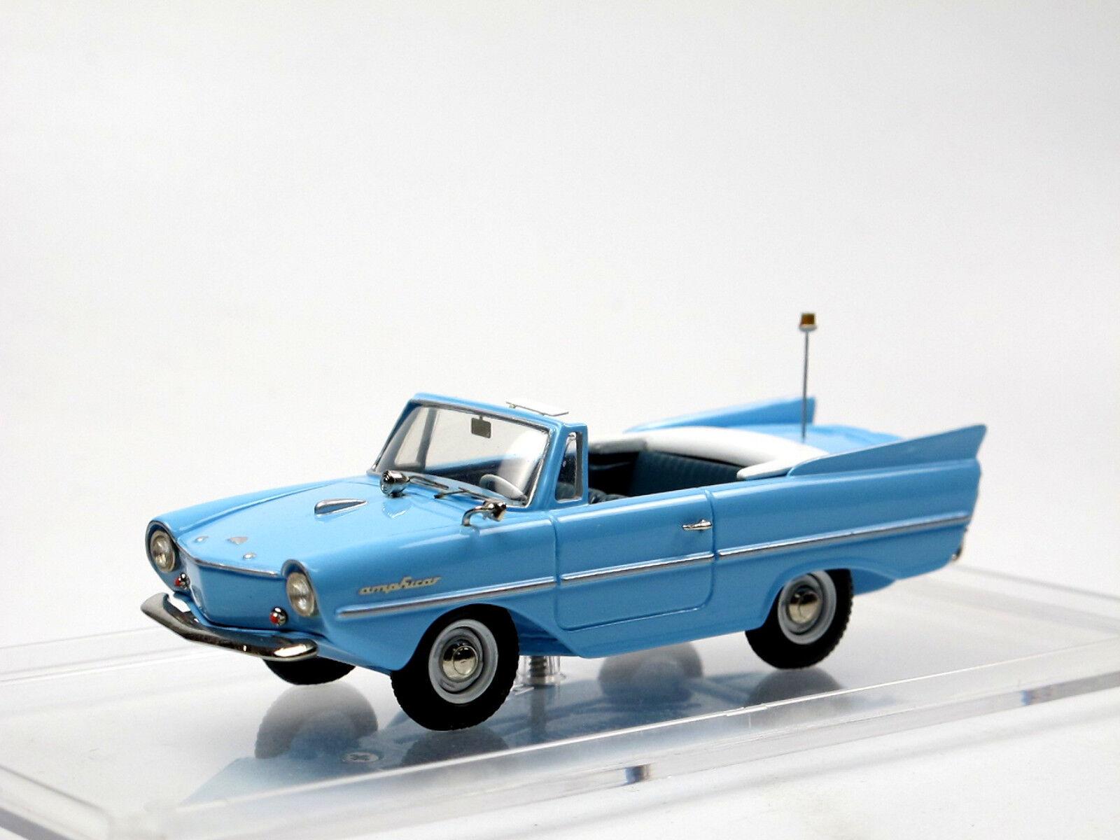AMPHICAR Type 770 Hans Trippel année modèle 1961-1964 bleu clair 1 43 blanc Metal