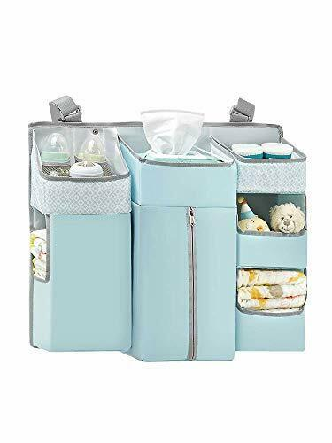 Wate HB.YE 7 in 1 Multi-functional Nursery Crib Hanging Nappy Change Organizer