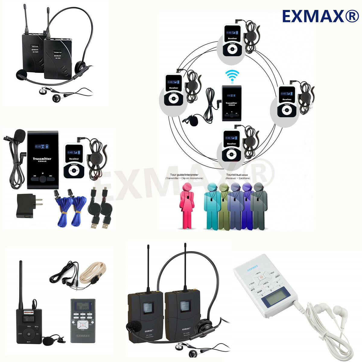 Long Distance Wireless Tour Guide system Monitoring Church Training  FM Radio