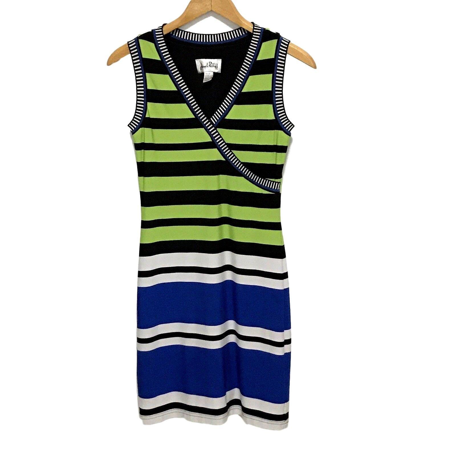 Joseph Ribkoff Dress damen Größe 6 Multi-Farbe Stripes Sleeveless Stretch