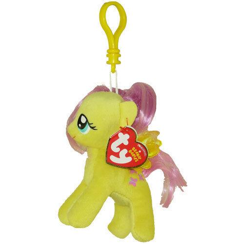 TY Beanie Baby - FLUTTERSHY (My Little Pony) (Plastic Key Clip - 5 inch) - New