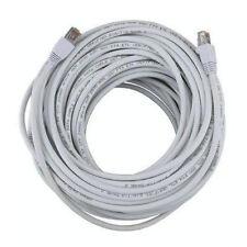 100FT White Cat5e 350MHz UTP RJ45 Ethernet Bare Copper Network Cable