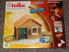 teifoc TEI 51 Starter House Real Brick Construction Building Set Brick & Mortar