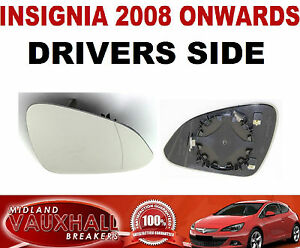 INSIGNIA WING MIRROR GLASS ELECTRIC & HEATED DRIVERS OFF SIDE SRI ...