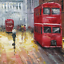 Modern-Artwork-Deco-Red-double-decker-bus-near-the-River-Thames-in-London thumbnail 5