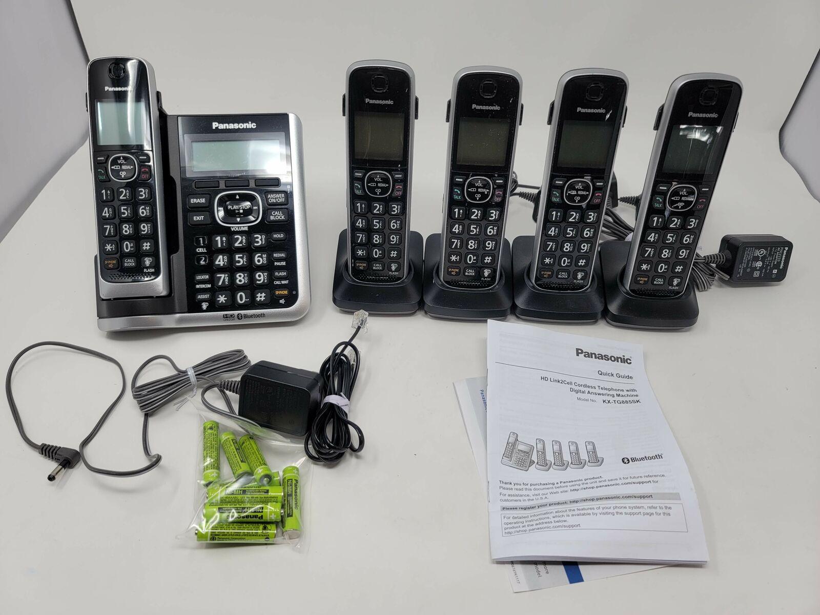 Panasonic KX-TG885SK 5 Handset Cordless Phone DECT 6.0 Technology
