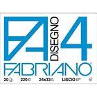 Fabriano Blocco F4 Liscio 20fg 24x33 220gr