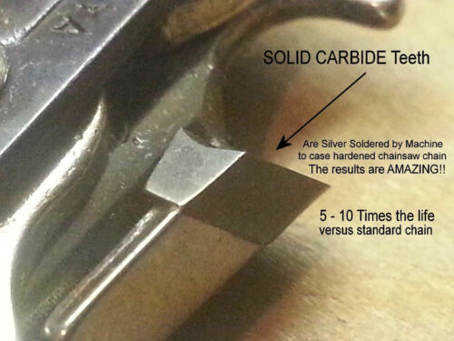 """*SOLID CARBIDE* 91PX57 Chainsaw Chain 16/"""" 3//8 050 57 Link Echo© Saws SEE VIDEO"""