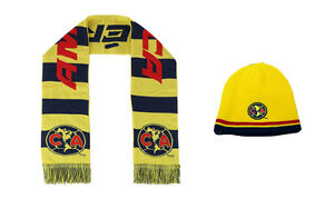 5e4eb59e1c0d9 Club America Scarf Reversible and Beanie hat Cap Soccer Official ...