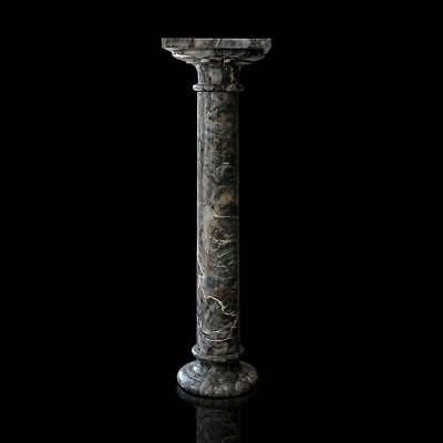 Colonna Classica In Marmo Salomè Italian Marble Clasic Column D.12cm H.100cm