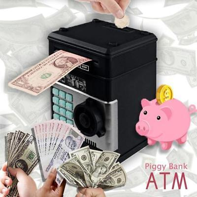 Piggy Bank ATM Eworld Mini Money Box Safety Electronic Password Chewing Coin New