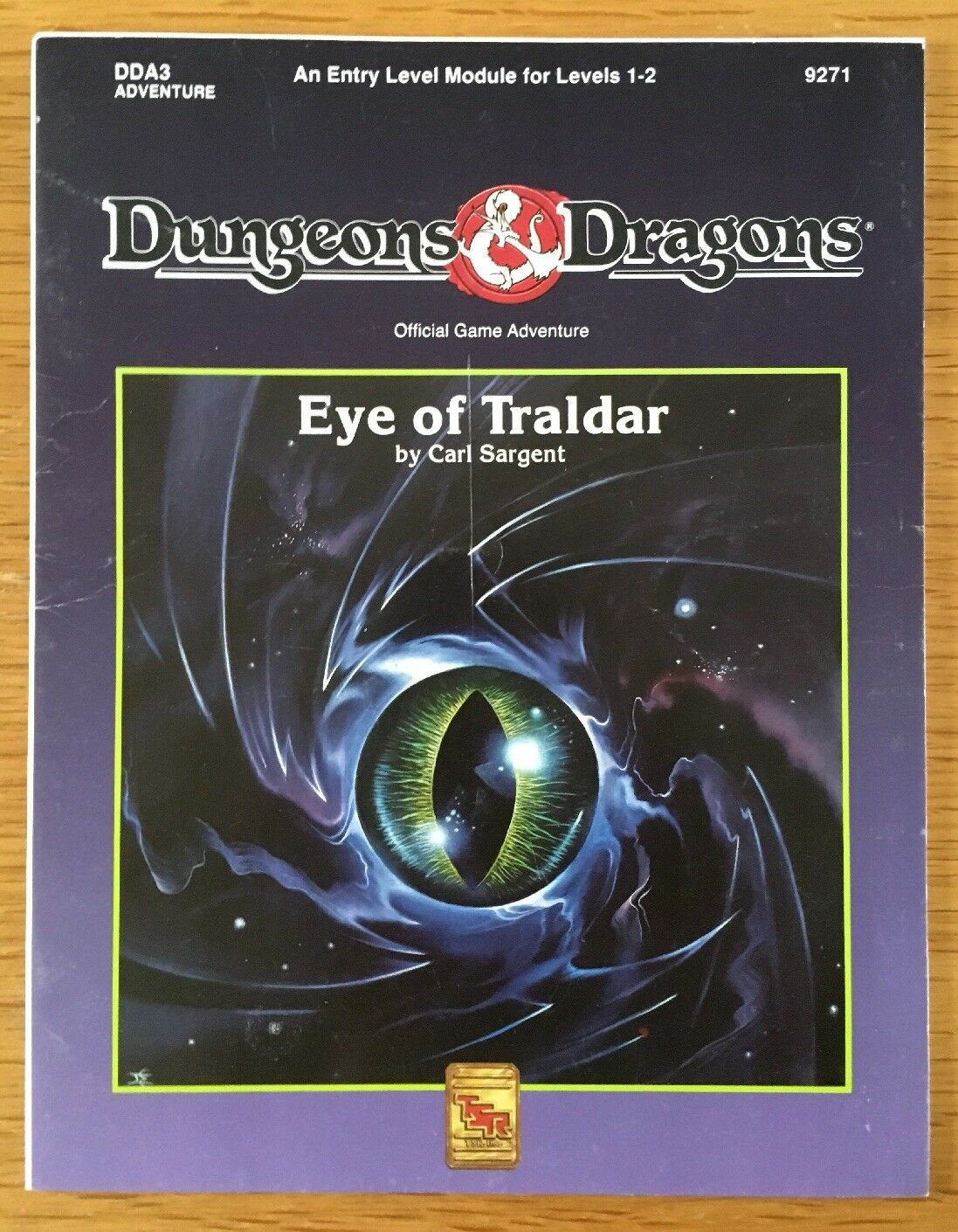 Dungeons & Dragons DDA3 Eye Of Traldar Adventure Module 9271 TSR