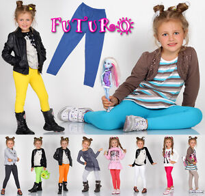 Kids Full Length Cotton Leggings Sizes 2 - 13 Years PLD