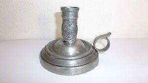 Etains De La Fontaine Paris Pewter Candle Holder, 200 Years La Liberte, France