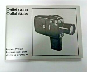 Rollei Sl83 Sl84 En Utilisation Pratique Manual, Instruction Book Genuine Original-afficher Le Titre D'origine Clair Et Distinctif