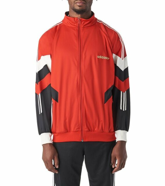 05f4a6474 NEW Adidas Originals Aloxe Track Jacket Top Men's Red White Black Gold  CZ5222